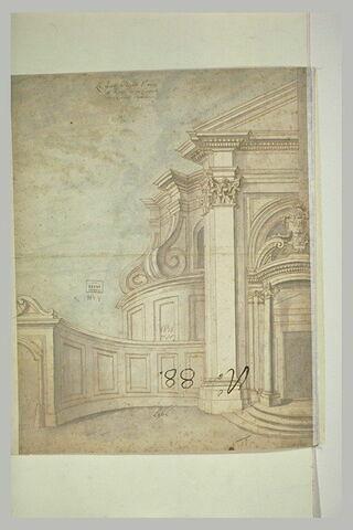 Etude d'architecture : l'église Saint-André à Rome