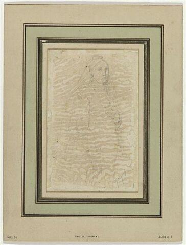 Portrait de femme, Madeleine Chapelle en robe de mariée