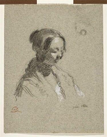 Portrait présumé d'Ermance Canelle de Provisy, épouse de l'artiste