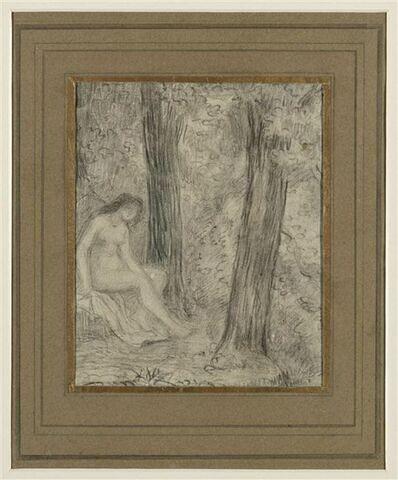 Jeune femme nue dans un paysage