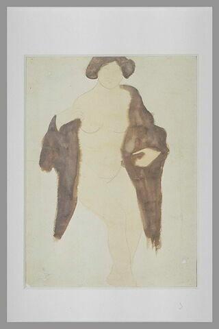Femme nue à la fourrure
