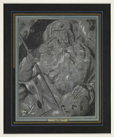 Saint Jacques tenant un crâne