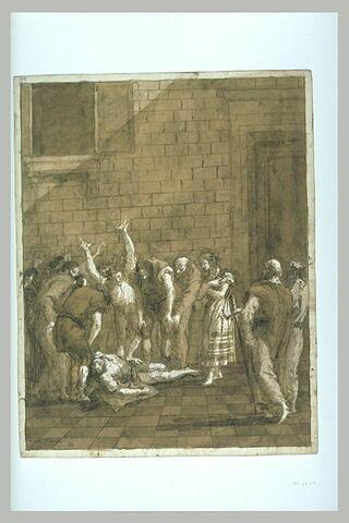 Saint Paul devant le corps inanimé d'Eutique qu'il va ressusciter