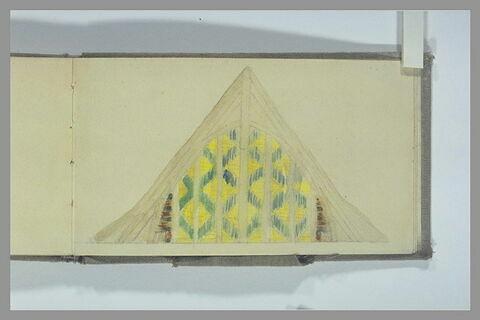 Etude d'un décor en terre cuite vernissée pour un fronton