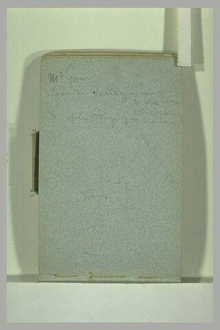 Annotations manuscrites et croquis illisible
