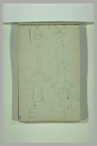 Croquis de colonnes et de bustes