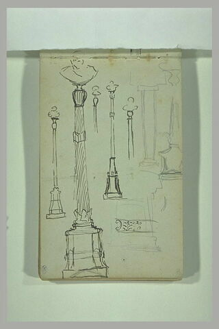 Etudes de bustes posés sur des colonnes