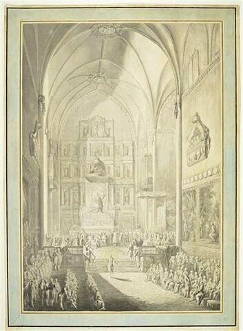 Le Serment de Ferdinand VII, dans l'église San Jeronimo el Real