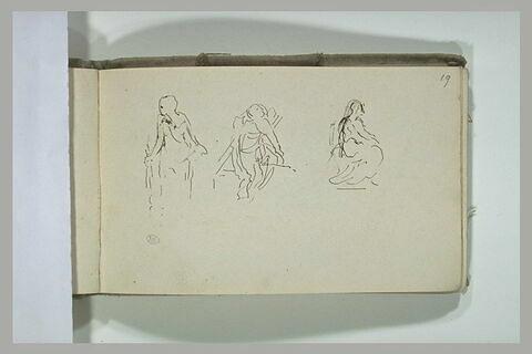 Trois études de statues