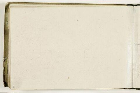 Décharge du dessin dessiné au verso du folio 17