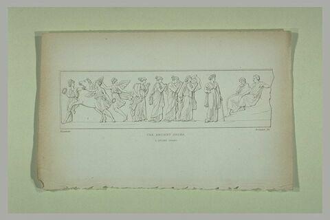 Frise antique avec cinq Muses