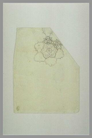 Motif ornemental en forme de fleur