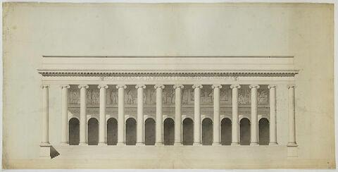 Paris, Palais impérial de la Bourse, projet d'ordre ionique