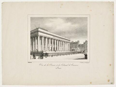 Paris, Palais impérial de la Bourse : élévation perspective