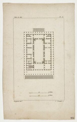 Paris, Palais impérial de la Bourse : plan