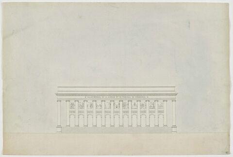 Paris, Palais impérial de la Bourse : élévation principale