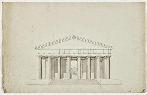 Paris, Temple du Commerce sur l'emplacement de la Madeleine