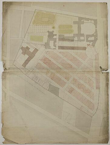 Vincennes (?) : plan de masse du château et de la ville