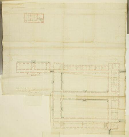 Paris, Ecole militaire, Infirmeries : plan du premier étage