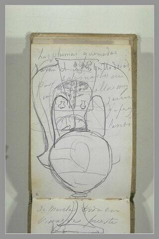 Vase et annotation manuscrite