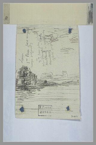 Paysage et annotations manuscrites