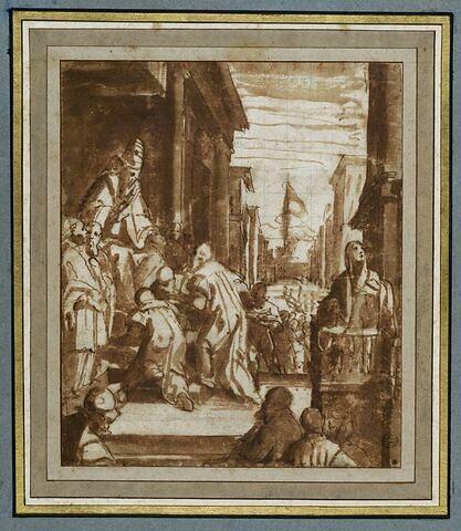Le peuple romain remet les clés du Castel Sant'Angelo à Urbain VI
