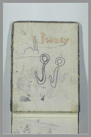 Signature d'Isabey : deux 'i' en forme de crochets
