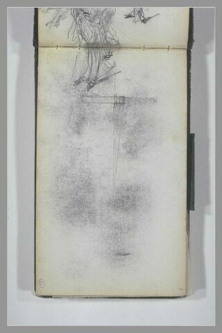 Jambes ; vue d'un mur en coupe