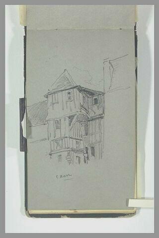 Maison à colombage, à Caen