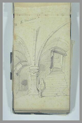 Escalier voûté au Mont-Saint-Michel