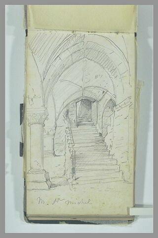 Arcade et escalier au Mont-Saint-Michel
