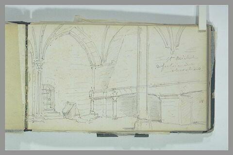 Le réfectoire des chevaliers au Mont-Saint-Michel
