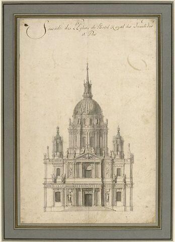 Etude pour la façade de l'église du Dôme des Invalides, à Paris