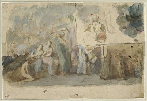 Décor de la chapelle de sainte Marie l'Egyptienne à l'église Saint-Merri