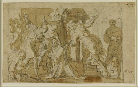 Scène de martyre d'un saint