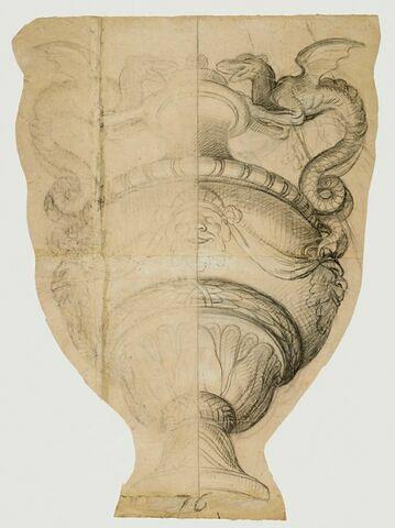 Vase à anse de dragon