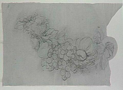 Guirlande de fleurs et de fruits