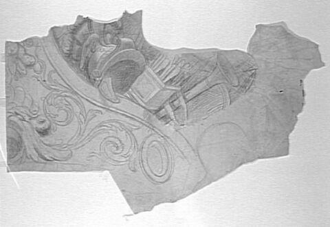 Eléments de décor avec casque et carquois
