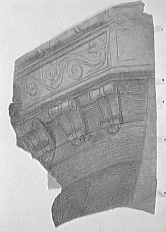 Partie gauche d'une poupe de navire
