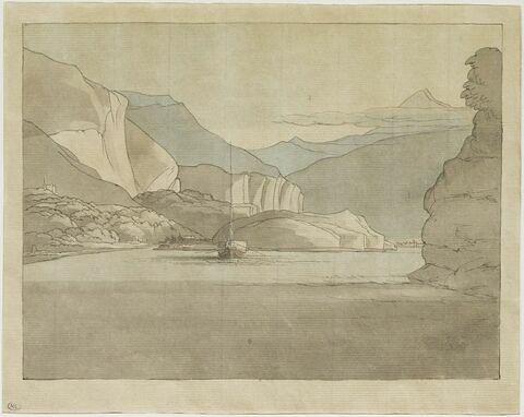 Vue du lac de Côme avec au fond le mont Legnone