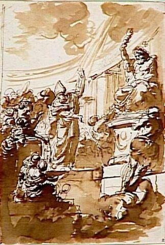 Saint Evêque détruisant les idoles