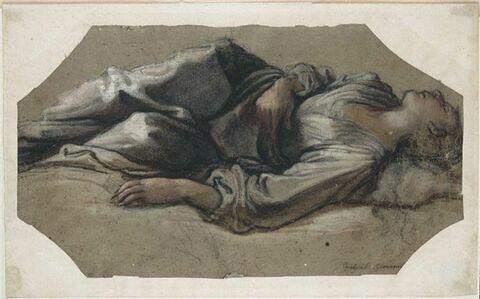 Femme couchée sur le dos