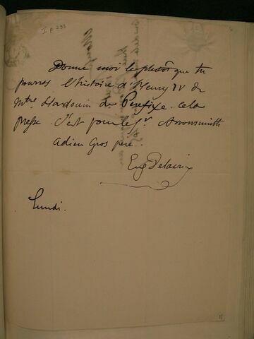 (1er décembre 1828), sans lieu, à J.B. Pierret
