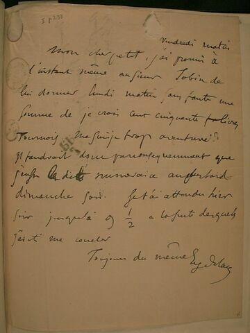 (12 décembre 1828), (Paris ?), à J.B. Pierret