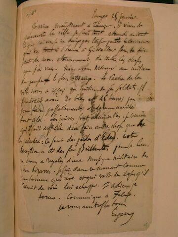 25 janvier (1832), Tanger, à J.B. Pierret