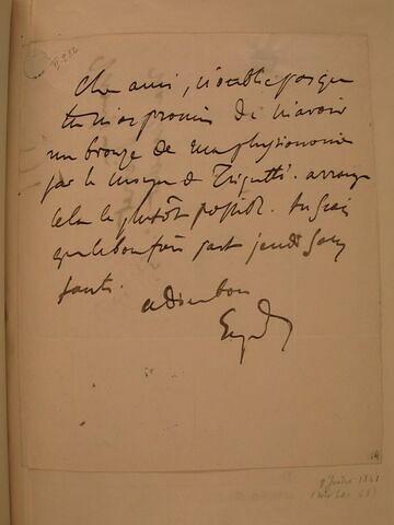(8 juillet), sans année, (Paris), à J.B. Pierret