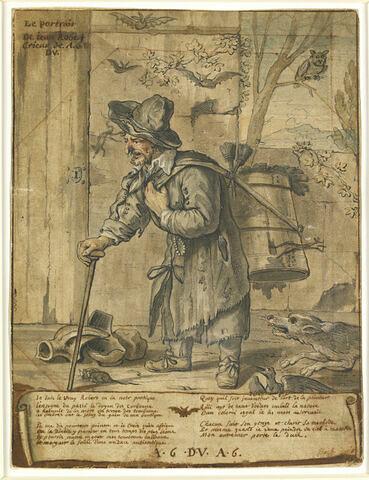 Portrait de Jean Robert, crieur de A.6. Du.