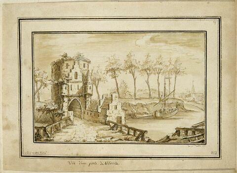 Vue d'une porte de la ville de Vilvorde