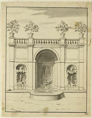 Fontaine et jardin du Belvédère à Frascati