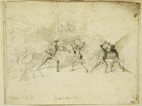 Hommes en armure combattant dans une salle